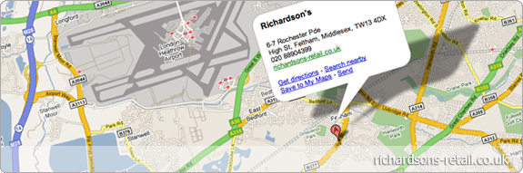 Richardsons Location, Directions & Open Times