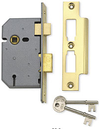 Union 2277 3 Lever Mortice Sash Lock - 2.5'
