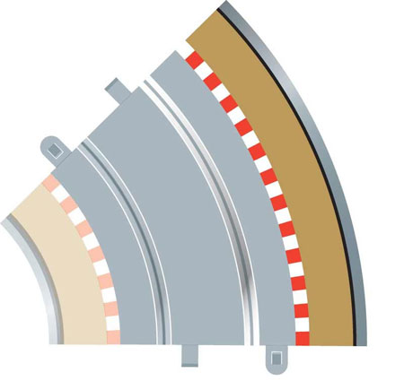 Scalextric - Advanced Track System - Radius 2 Curve Outer