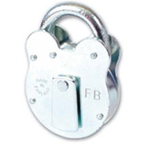 FB - Fire Brigade Padlock 4 lever - FB14 - Yellow