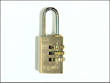 Squire - Brass Luggage Combination Padlock 20mm