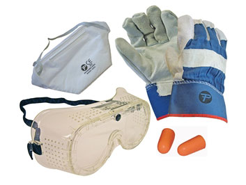 Safety Kit (Gloves Goggles Ear Plugs & Mask)