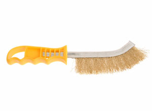 Hand Wire Brush Brass With Yellow Handle