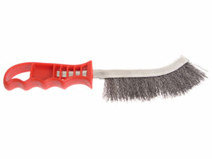 Hand Wire Brush Steel With Red Handle