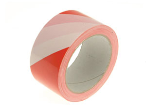 Red And White Warning Barrier Tape
