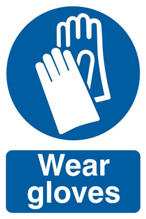 Gloves Safety Sign