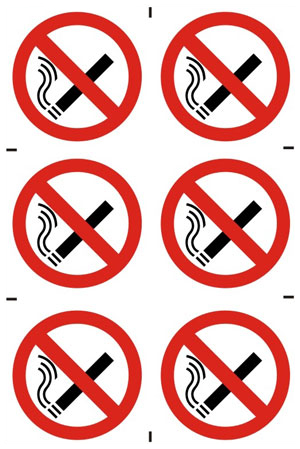No Smoking Prohibition Sign (6 Pack)