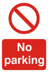 No Parking Prohibition Sign