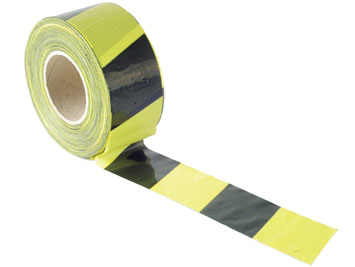 Barrier Tape - Black & Yellow